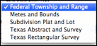 Fig 6-4 Land Description Type menu