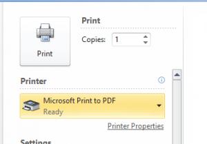 Windows 10 Send PDF option